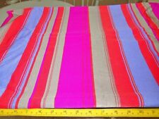 "2 YDS X  60"" HOT PINK PURPLE RED STRIPE STRETCH KNIT SILKY FASHION FABRIC"