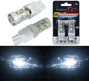 LED Light 50W 7440 White 5000K Two Bulbs Front Turn Signal Replace Upgrade
