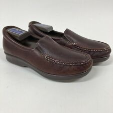 Sas Womens 7 Twin Slip On Loafer Brown