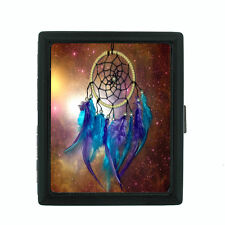 Dreamcatcher D6 Black Cigarette Case / Metal Wallet Snare Spider Web