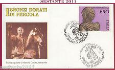 ITALIA FDC FILAGRANO 1988 I BRONZI DORATI DI PERGOLA NERONE ANNULLO PS Z16