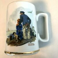 Vintage 1985 Norman Rockwell Museum Collection Coffee Mug Cup Looking Out To Sea