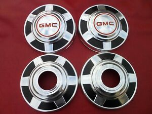 """VINTAGE NOS 1973-77 GMC 4X4 12"""" TRUCK DOG DISH POVERTY HUBCAPS WHEEL COVERS"""