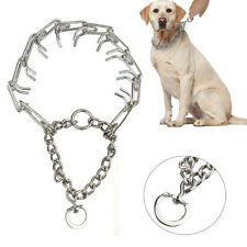 "Dog Training Choke Chain Collar Adjustable Metal Steel Prong Pinch 4.0m 20""-26"""