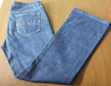 Tommy Hilfiger Ladies Jeans Size UK 12 Mid Wash Low Rise Pink Thread Zip Fly