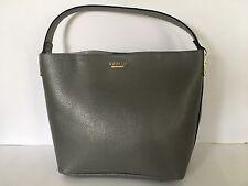 Ladies Women's Grey Designer (Modalu) Faux Leather Croc Tote Bag