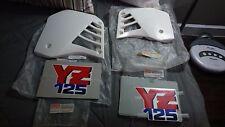 Yamaha YZ125 1987 Radiator Shrouds NOS and original decals NOS