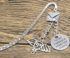 TO THE CUPBOARD UNDER THE STAIRS OWL HEDWIG CHARMS BOOKMARK HARRY POTTER
