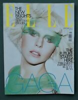 ELLE magazine January 2012 LADY GAGA cover & feature fashion industry beauty UK