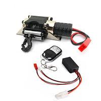 Metall Seilwinde Winch+Controller für 1:10 SCX10 TRX-4 HSP Redcat RC Crawler Car