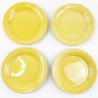 "Nancy Calhoun Honey Yellow Salad Bread Dessert Plate 6.25"" Japan Set of 4 EUC"