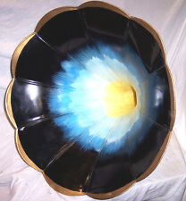 "EDISON PHONOGRAPH 24"" NICELY REPAINTED SUNBURST MORNING GLORY HORN"