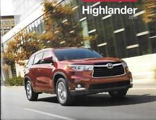 2015 15 Toyota  Highlander  original sales brochure