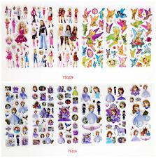 12 Sheets / Lot Princess 3d Bubble Wall Sticker Cartoon Children School Gift Hot