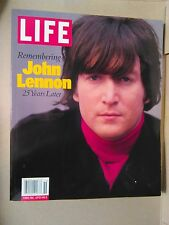 LIFE Magazine Remembering John Lennon 25 Years Later  FIRST ISSUE SEE DESCriptio