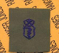 USAF Master Bio Medical Service Qualification OD Green & Blue badge patch