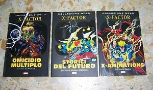 """X-FACTOR COLLEZIONE GOLD 1-2-3 COMPLETA PETER DAVID ED.PANINI OTTIMI PERFETTI"""""""""""