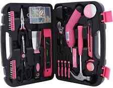 Ladies Household Pink Precision Tools 135pcs Women Home Repair Box Case Kit Set
