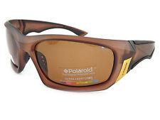 Polaroid Hommes Lunettes de soleil polarisées foncé opaque marron/marron p7324b