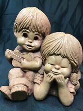 Vintage Fannykins Bill Mack Figurine Statuary Boy & Girl SERENADE Sculpture 1977