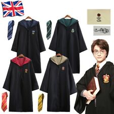 UK Harry Potter Gryffindor Ravenclaw Slytherin Hufflepuff Robe Cloak Tie Costume
