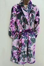 Next Pink Floral Print Super Soft Fleece Dressing Night Gown Robe XSmall 6-8-UK