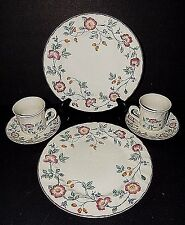 Briar Rose Churchill Staffordshire England China 2 White Dinner Plate Saucer Cup