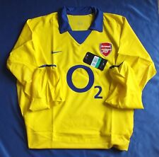 RARE ARSENAL saison 2003-2004 Invincible Away à manches longues player issue shirt XL