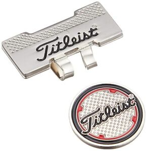 TITLEIST AJBM51-SV Cap Clip Marker Golf Ball Marker Silver NEW from Japan