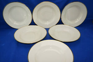 Seltman Johann Cream w/Gold Trim 1550 (6) Soup Bowls, 10""