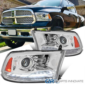 For 09-19 Ram 1500 Projector Headlights Switchback LED Sequential Signal Strip