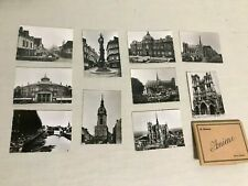 Antique Set of 10 French Pocket Photos from Wwii - Amiens Edit. R. Lelong