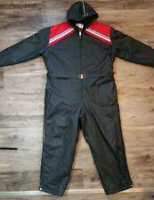 Vintage UPC HOODED Snowmobile Snow Ski Winter Warm Suit Men's Size XXL EUC Black