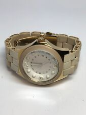 Marc By Marc Jacob Watch White On White Gold Tone Quartz Watch