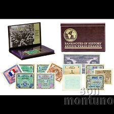 FALL OF THE AXIS - Allied Military Currency - A Collection of 8 Banknotes - WWII