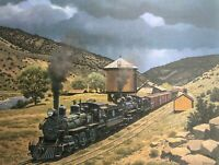 Howard Fogg Denver & Rio Grande Western Railroad Print Class T-12 Steam Engines