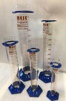 Borosilicate Glass Measuring Cylinder, plastic base, 100, 250, 500, 1000, 2000mL