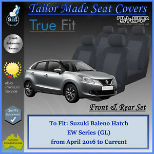 Tailor Made Seat Covers for Suzuki Baleno EW 4-Door Hatch: 04/2016 to Current