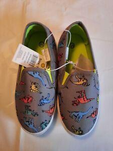 Revolution Boys Multicolored Dinosaur Slip On Summer Shoes Gray Multi-colored