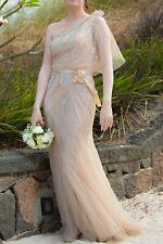 Jenny Packham Gatsby vintage vestido de novia Lang Blush Rose nude uk8 dt 36