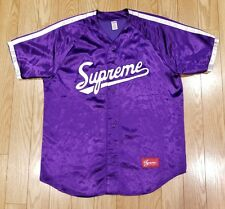 SS17 Supreme Satin Baseball Jersey Size XL