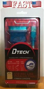 DTECH DT-5004 USB2.0 Male To Male Transfer Printer The Mouth Line IEEE1284