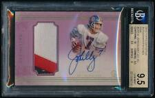 2015 Topps Definitive Pink JOHN ELWAY Patch Auto /5 *Broncos* BGS 9.5
