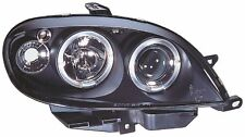 Citroen Saxo 99-02 Black Halo Angel Eye Projector Front Headlights Lights - Pair