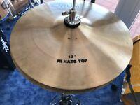 "DOPPLER DRUMS handcrafted 13"" HiHat Cymbals  - Einzelstück"