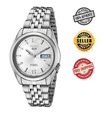 Seiko 5 Automatic SNK385 SNK385K1 Men See Through Day Date Stainless Steel Watch