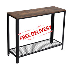 Vintage Console Table Hallway Side Storage TV Stand Furniture Rustic Industrial