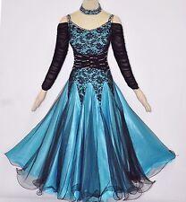 Ballroom Practice Dance Dress Light weight Lace Top Women Exercise Waltz Gown 12