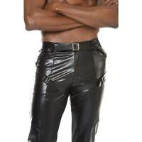 Patrice Catanzaro - Joss - Pantalon sexy pour homme en wetlook laqué noir
