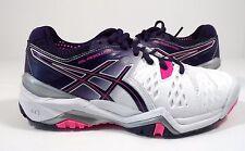ASICS Women'S Gel-Resolution 6 Tennis Shoe White/Parachute Purple/Hot Pink 5 M